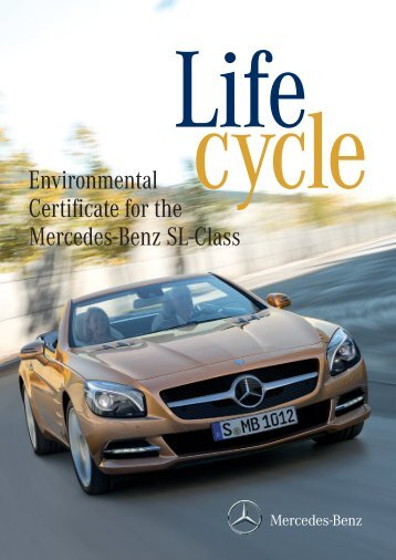SL-Class Environmental Certificate - Mercedes-Benz (UK)