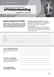 Affaldsindsamling - Danmarks Naturfredningsforening