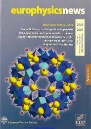 Magnetic - Europhysics News