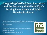 Integrating Certified Peer Specialists and the Recovery Model into ...