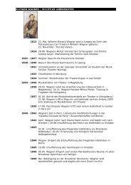 Richard Wagner, wichtige Lebensdaten - Richard Wagner Verband ...