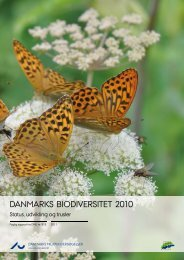Danmarks biodiversitet 2010 - DCE - Nationalt Center for Miljø og ...