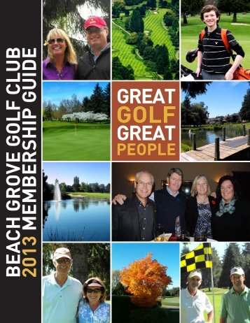 BEACH GROVE GOLF CLUB 2013 MEMBERSHIP GUIDE