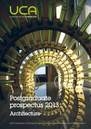 Postgraduate prospectus 2013 - holding page - University for the ...