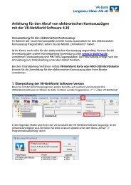 Anleitung für den Abruf von elektronischen Kontoauszügen mit der ...