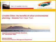 The City of Cape Town's Role in Creating a Better Life for All - ICLEI
