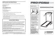 ACHTUNG: Bevor Sie den - Icon Health & Fitness   Support Site
