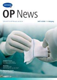 Zeitschrift für OP-Personal und Ärzte  Heft 3 ... - Paul Hartmann AG