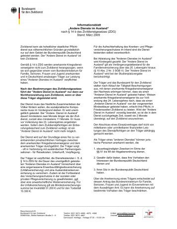 ADiA Infoblatt des BAZ - ICJA Freiwilligenaustausch weltweit  e.V.