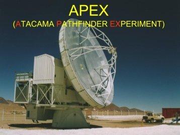atacama pathfinder experiment - 6th ACS Workshop at UTFSM 2009