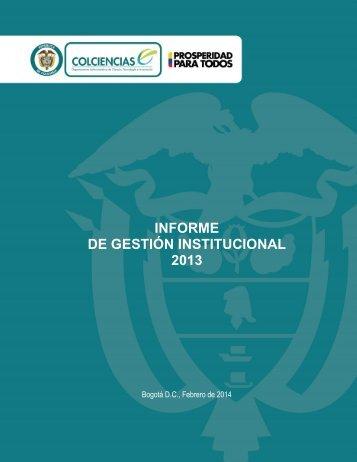 01 Informe de Gestión 2013 Rendicion de Cuentas