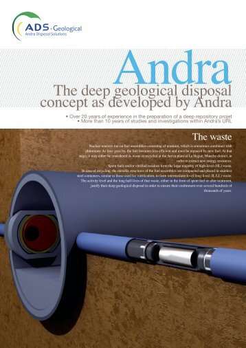 The deep geological disposal concept as developed by Andra