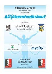 Ausschreibungsbroschüre zum 28. AZ-Abendvolkslauf (pdf ... - Uelzen