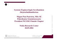 systems engineering prosessi - FINSE