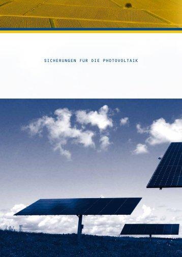 Sicherungen für die Photovoltaik / Fuses for ... - Jean Müller