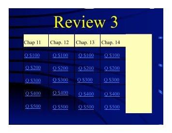 review exam 3