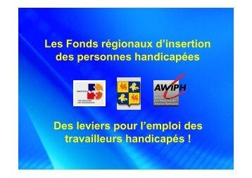 Les Fonds régionaux d'insertion des personnes handicapées - STES