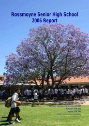 Rossmoyne Senior High School 2006 Report