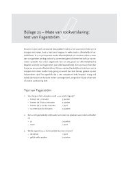 Bijlage 23 – Mate van rookverslaving: test van Fagerström