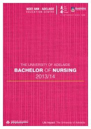 bachelor of nursing - Ngee Ann-Adelaide Education Centre (NAA)