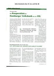 Aktiv Handwerk - Hamburger Volksbank