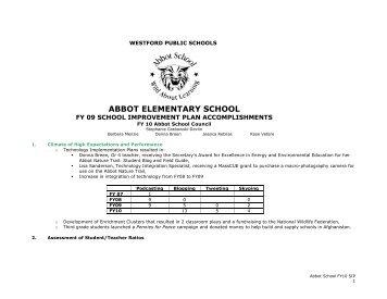 AB SIP 10 Abbot - Abbot Elementary School - Westford Public Schools