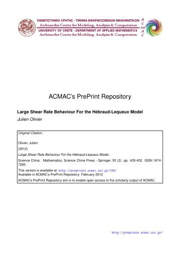 Download (327Kb) - ACMAC's PrePrint Repository