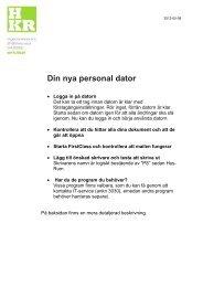 Din nya dator - kort introduktion - Högskolan Kristianstad