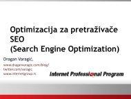 Optimizacija za pretraživače SEO (Search Engine ... - Razvoj karijere