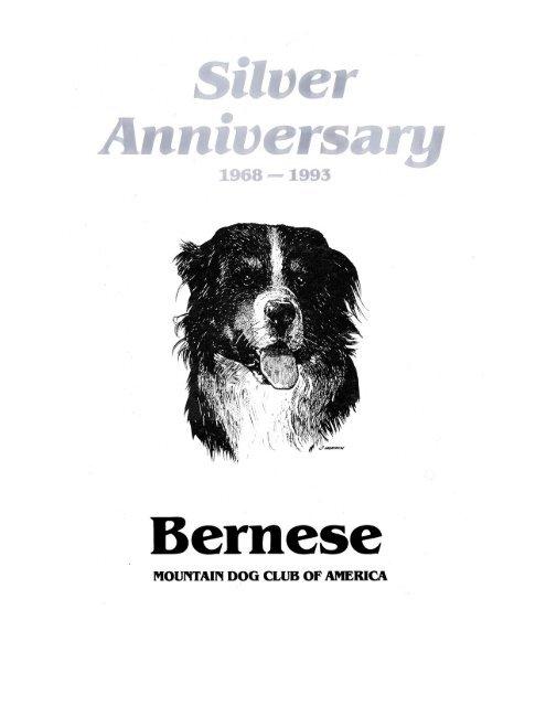 Silver Anniversary Pdf Bernese Mountain Dog Club Of America