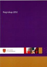 Regnskap 2012.pdf - Aust-Agder fylkeskommune