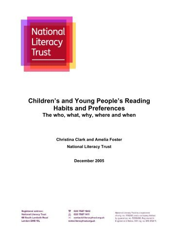 Children's and Young People's Reading Habits and Preferences