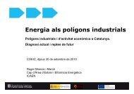Bloc Energètic - Enginyers Industrials de Catalunya