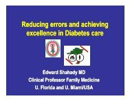 Reducing errors and achieving ll i Di b t  excellence in Diabetes care