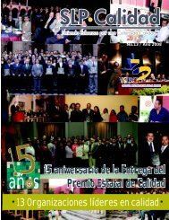 15 aniversario de la Entrega del Premio Estatal de Calidad