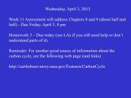 Wednesday, April 3, 2013 Week 11 Assessment will address ...