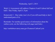 Wednesday, April 3, 2013 Week 11 Assessment will address ...