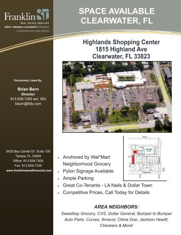 Highlands SC, Clearwater - Flyer BB - Franklin Street Financial