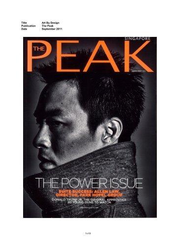 Title Art By Design Publication The Peak Date ... - Art Plural Gallery