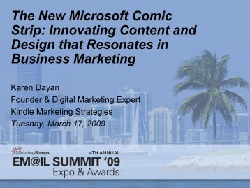 Breaking through with Innovative Design and ... - MarketingSherpa