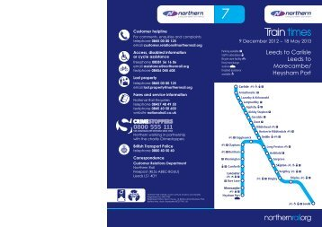 Train times - Northern Rail
