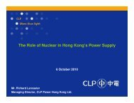 The Role of Nuclear in Hong Kong's Power Supply - Civic Exchange