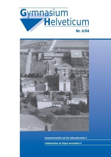 Gymnasium Helveticum Nr. 4/04 - vsg