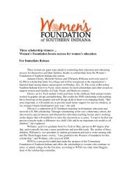 2011 Scholarship Recipients - Women's Foundation of Southern ...