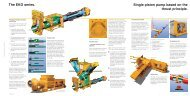 The EKO series. Single piston pump based on the ... - Demorindustria