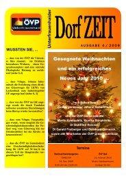 Dez 2009 | DorfZEIT - für Unterfrauenhaid...