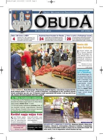 Óbuda újság 2007/20. szám - Óbuda-Békásmegyer