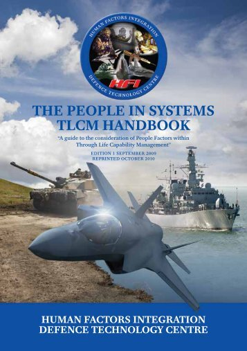 The people in sysTems Tlcm handbook - Human Factors Integration ...