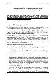 Patienteninformation und Einwilligungserklärung zur Teilnahme an ...