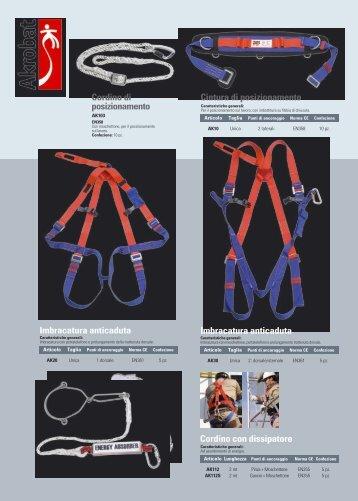 Cintura di posizionamento Imbracatura anticaduta ... - Antiflamme.it